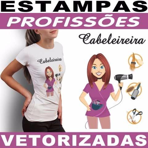 Estampas Sublimação Camisetas Profissão Femininas
