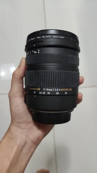 Lente Sigma Dc 17-70mm 2.8/4 Macro Hsm Aps-c P/ Canon