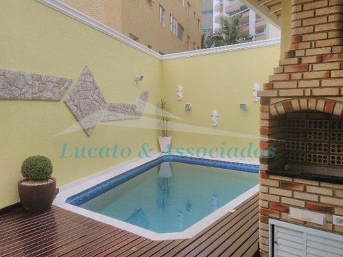Imagem 1 de 30 de Casa Isolada Com Piscina Na Vila Caiçara Em Praia Grande Sp - Ca00122 - 3297751