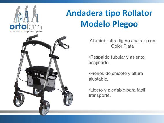 Andadera Con Ruedas Tipo Rollator Plegoo