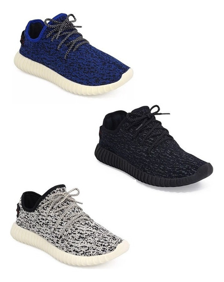 Combo 3 Pares Tenis Sapatenis Masculino Yzy Roud Barato Off