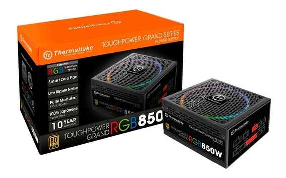 Fonte 850w Thermaltake 80 Plus Gold Modular Rgb Toughpower