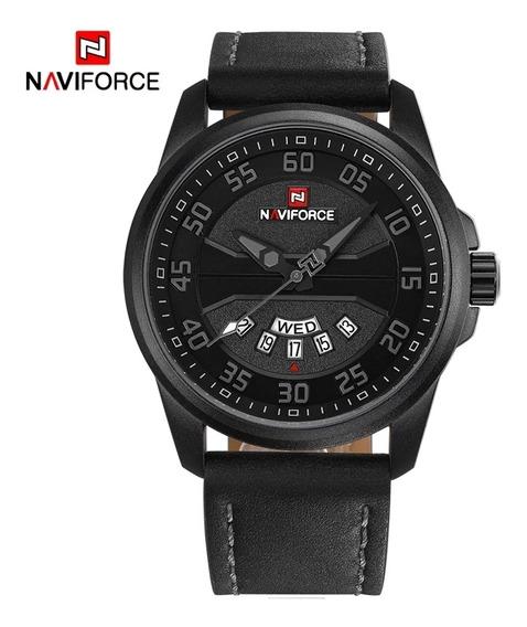 Relógio Militar Esportivo Naviforce Original Pulseira Couro