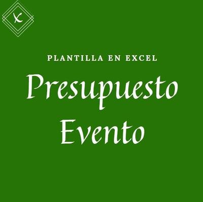 Plantilla - Presupuesto Evento - Bodas - Xv Años