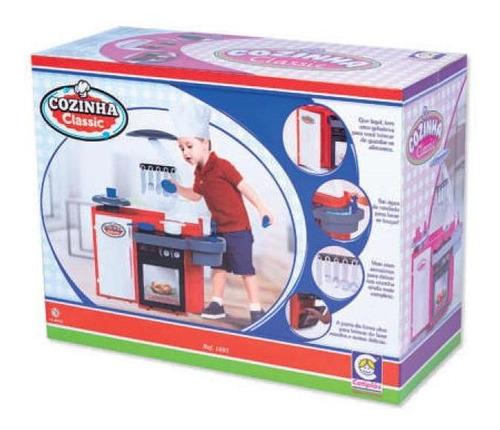 Mini Cozinha Infantil Armário Pia Fogão Geladeira Completa