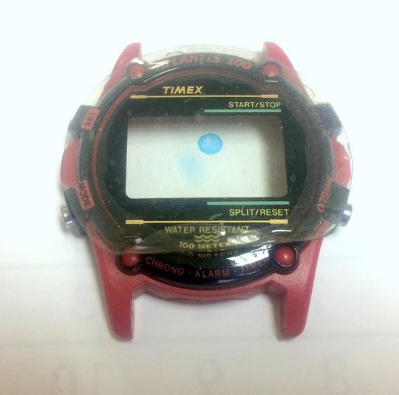 Relógio Timex Atlantis Caixa Vermelha Nova Completa C/tampa