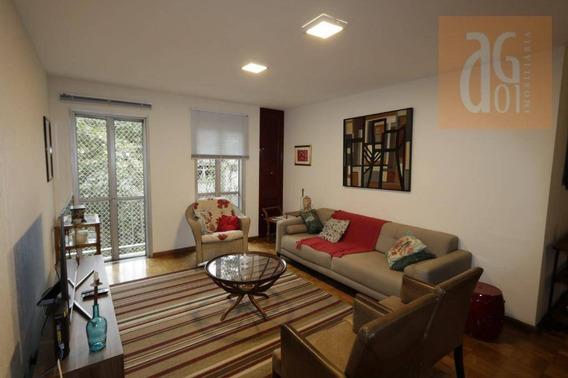 Apartamento Com 3 Dormitórios Para Alugar, 128 M² Por R$ 6.500,00/mês - Alto De Pinheiros - São Paulo/sp - Ap3090