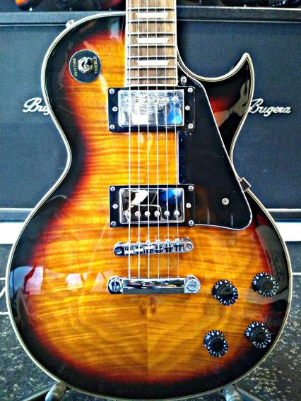 Guitarra Les Paul Phx Lp5 Flame Maple Sunburst+nfe+cabo+capa