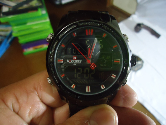 Relógio Naviforce Nf 9138 - Preto/vermelho