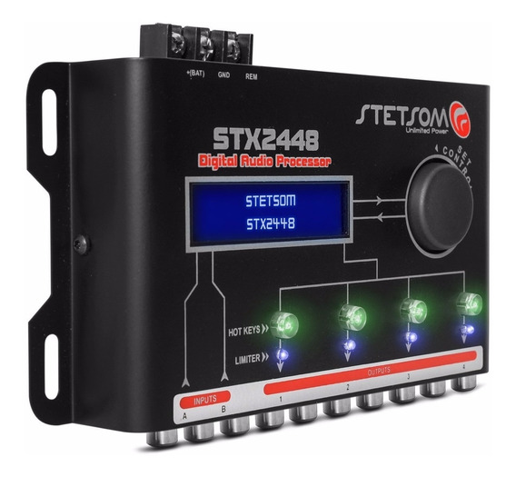 Processador De Audio Digital Automotivo, Stetsom Stx2448
