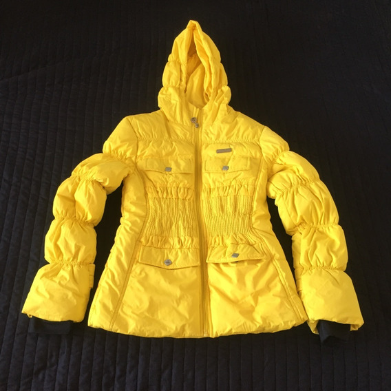 Campera Mujer Rompevientos Frio Termica Impermeable Amarilla