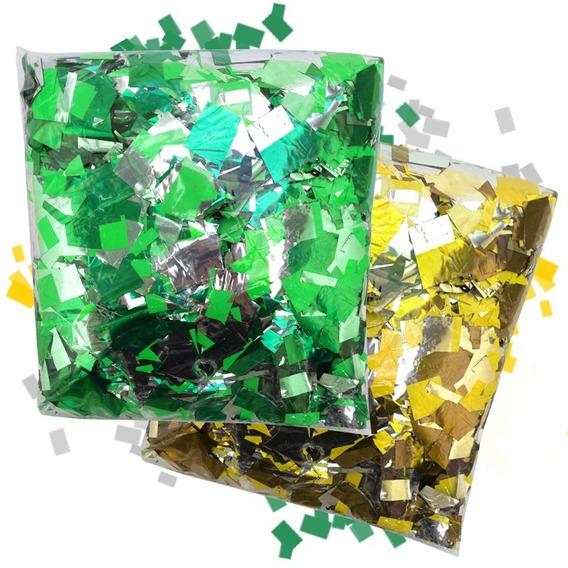 2kg Papel Picado Verde Amarelo Lança Confete Skypaper Brasil