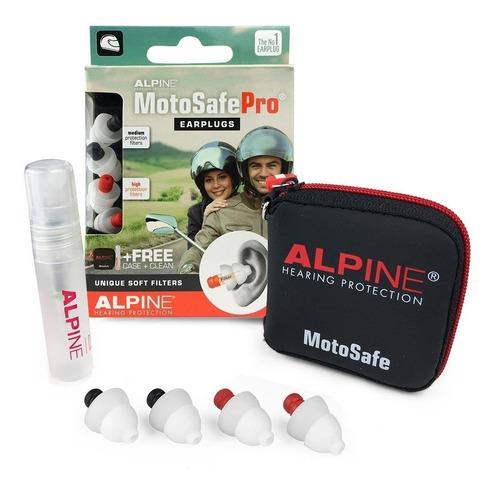 Protetor Auricular Alpine Motosafe Pro - Motociclista