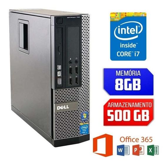 Desktop Dell Intel Core I7 Hd 500gb Ram 8gb Garanta Ja O Seu