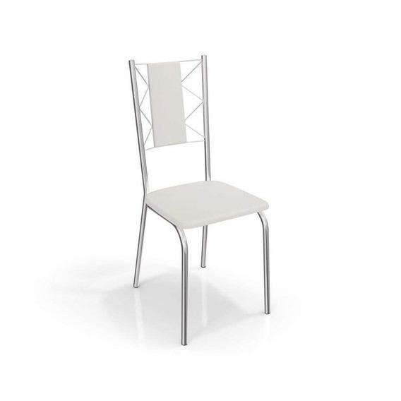 Conjunto 4 Cadeiras Lisboa Crome Cromado Kappesberg