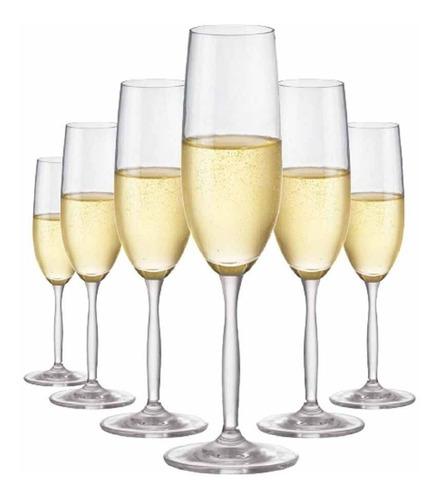 Imagem 1 de 3 de Kit Taças Champagne Ritzenhoff Cristal 195ml 6 Pcs