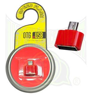 Otg Mini Adaptador Entrada V8 Color Rojo