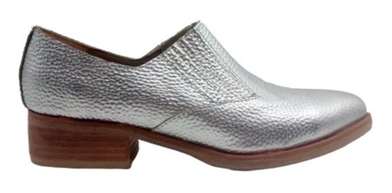 Chata Taco Punta Elastico Moda Mujer Calzado Zapato Cuero Jo