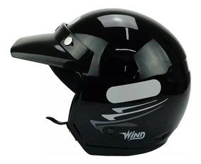 Capacete Aberto Taurus Wind V2 New Concept Preto