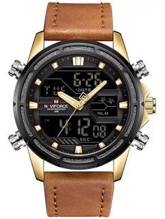 Reloj Hombre Naviforce Nf9138 Calidad Cuero Excelencia
