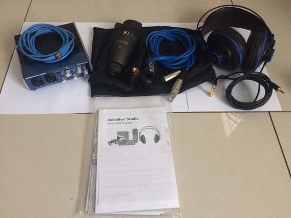 Kit Presonus Audiobox Usb 96 Studio + Suporte Microfone