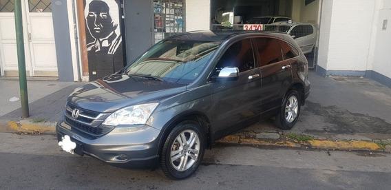 Honda Cr-v 2.4 Lx At 2wd Cuero Gris Topo 1ra Mano 2011