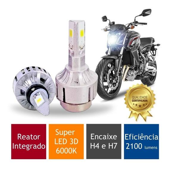 Lampada Moto Super Led 3d Suzuki Gsx 750 F (h4 H7) 6000k