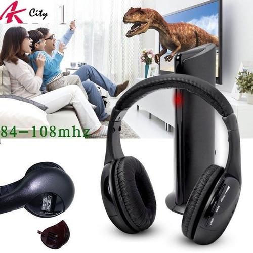 Audifonos Inalambricos 5 En 1 Microfono Integrado Pc Tv Dvd