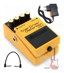 Pedal Boss Os2 Overdrive Distortion + Fonte Hayonik + Cabo
