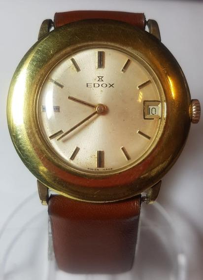 Relogio Vintage De Pulso Edox Swiss Made Corda Manual