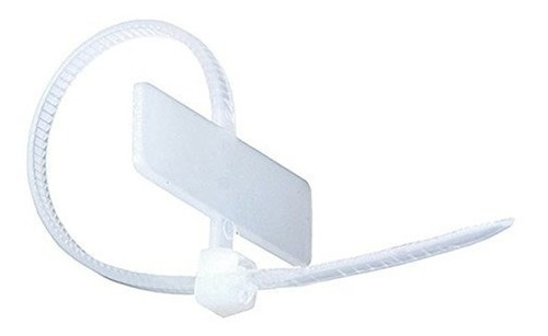 Monoprice Marker Cable Tie 4 Pulgadas 18lbs 100pcspack Blanc