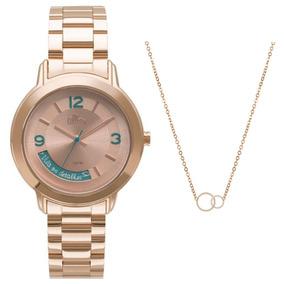 Kit Relógio Feminino Allora Serena Al2315aj/k4t - Rosê