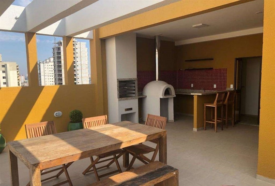 Apartamento No Bairro Valparaíso Em Santo André Com Cobertura - V2948