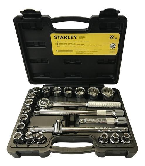 Jogo De Soquetes 1/2 8 A 32mm 22 Peças Stmt81242-840 Stanley
