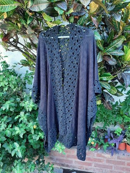 Ruana, Detalles Crochet