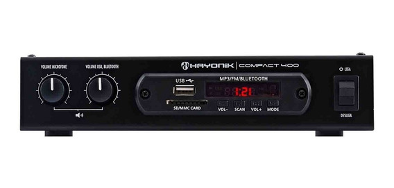 Amplificador Bluetooth 40w Rms 4 Ohms Compact 400 Hayoni