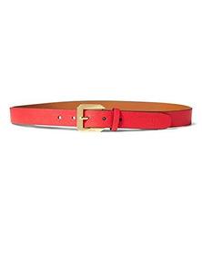 Lauren Ralph Lauren Emden Pebbled Cinturón De 10 En Color Ro