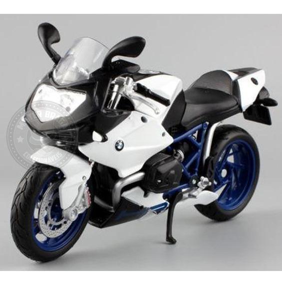 Miniatura Moto Bmw Hp2 Sport Branca Maisto 1/12