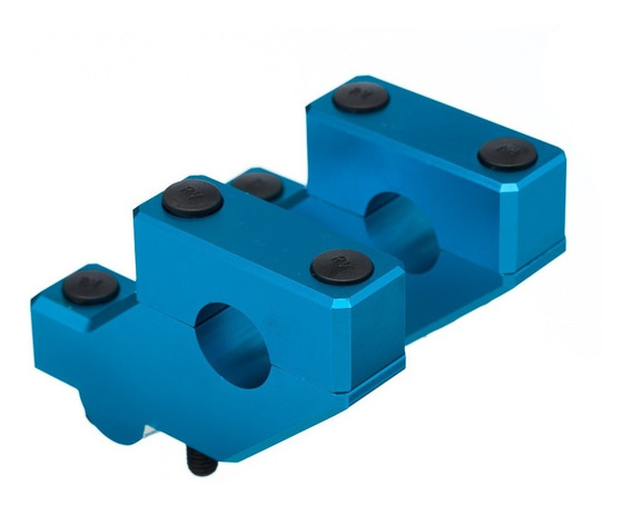 Adaptador De Guidão Avançado Bering Crossbar 22mm Azul