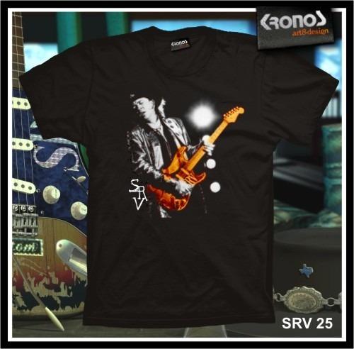 Remeras Stevie Ray Vaughan Rock Blues Guitarra Srv M.025