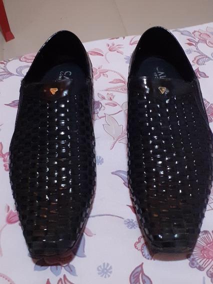 Sapato De Couro Número 40 Cor Preta