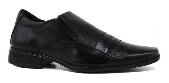 Sapato Zariff Shoes Social Bico Quadrado Preto
