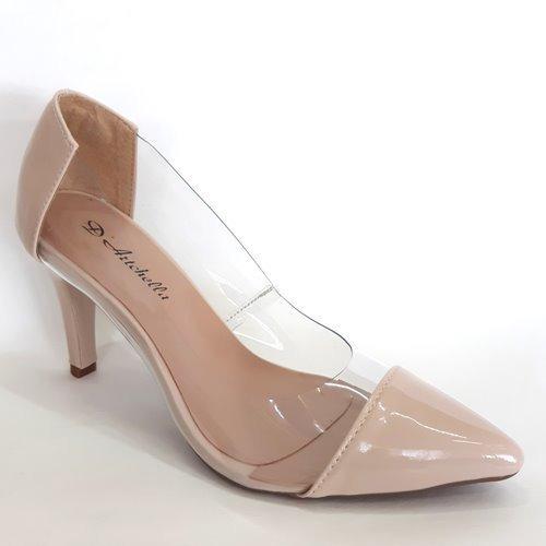 Scarpin Sapato Feminino Transparente Moda Salto 8 Tendencia