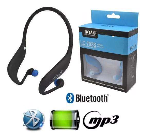 Fone Ouvido Sem Fio Bluetooth Mp3 Player Rádio Fm Cartão Sd