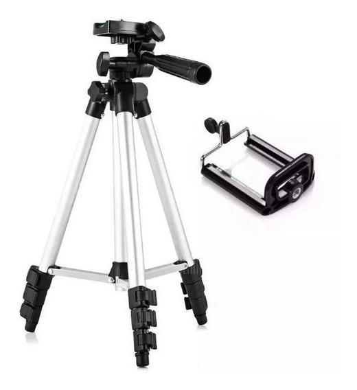 Tripé Telescópio Universal Câmera Celular 1,20mt Bolsa + Nf