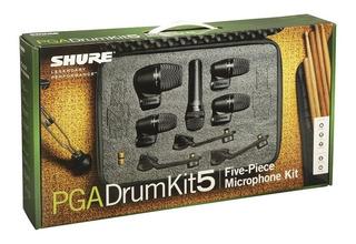 Shure Pga Drumkit5 Pack Micrófonos Para Batería 52 - 56 - 57