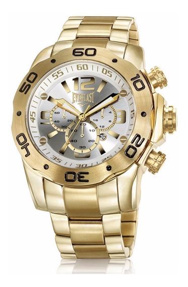 Relógio Everlast Gold Masculino Dourado Cronógrafo - E543