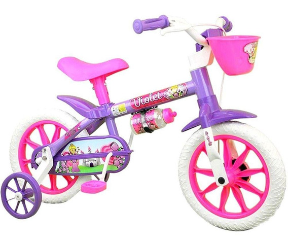 Bicicleta Infantil Nathor Violet Aro 12