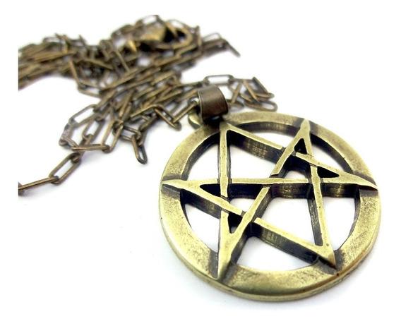 Colar Hexagrama Unicursal Aleister Crowley 2,5 Cm