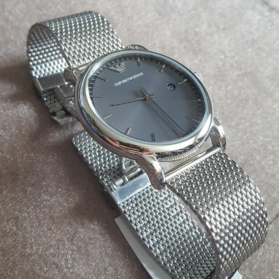 Relógio Masculino Empório Armani Pulseira Em Aço Original